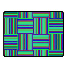 Fabric Pattern Design Cloth Stripe Double Sided Fleece Blanket (small)  by AnjaniArt