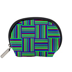 Fabric Pattern Design Cloth Stripe Accessory Pouches (Small)  by AnjaniArt