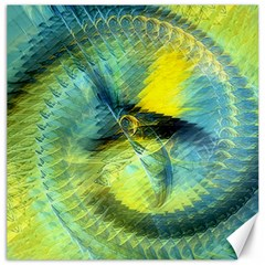 Light Blue Yellow Abstract Fractal Canvas 12  X 12   by designworld65