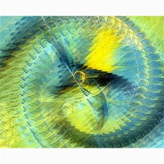 Light Blue Yellow Abstract Fractal Canvas 16  X 20   by designworld65