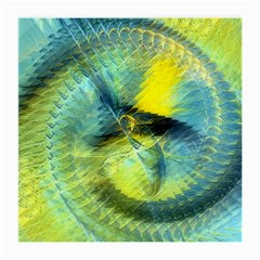 Light Blue Yellow Abstract Fractal Medium Glasses Cloth (2 Side) by designworld65