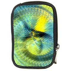 Light Blue Yellow Abstract Fractal Compact Camera Cases by designworld65