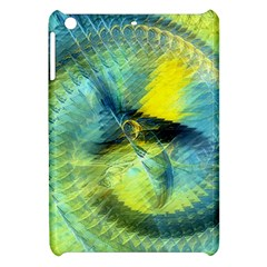 Light Blue Yellow Abstract Fractal Apple Ipad Mini Hardshell Case by designworld65