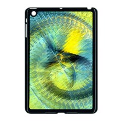 Light Blue Yellow Abstract Fractal Apple Ipad Mini Case (black) by designworld65