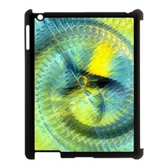 Light Blue Yellow Abstract Fractal Apple Ipad 3/4 Case (black) by designworld65