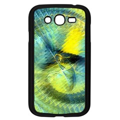 Light Blue Yellow Abstract Fractal Samsung Galaxy Grand Duos I9082 Case (black) by designworld65