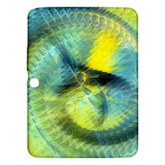 Light Blue Yellow Abstract Fractal Samsung Galaxy Tab 3 (10 1 ) P5200 Hardshell Case  by designworld65