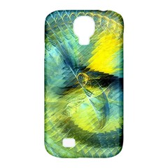 Light Blue Yellow Abstract Fractal Samsung Galaxy S4 Classic Hardshell Case (pc+silicone) by designworld65