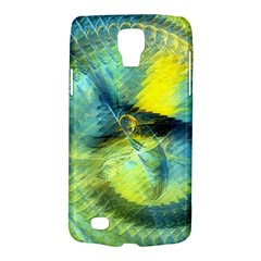 Light Blue Yellow Abstract Fractal Galaxy S4 Active by designworld65