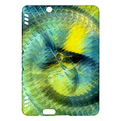 Light Blue Yellow Abstract Fractal Kindle Fire Hdx Hardshell Case by designworld65