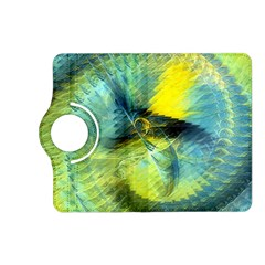 Light Blue Yellow Abstract Fractal Kindle Fire Hd (2013) Flip 360 Case by designworld65