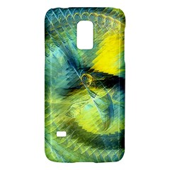 Light Blue Yellow Abstract Fractal Galaxy S5 Mini by designworld65