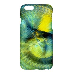 Light Blue Yellow Abstract Fractal Apple Iphone 6 Plus/6s Plus Hardshell Case by designworld65