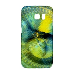 Light Blue Yellow Abstract Fractal Galaxy S6 Edge by designworld65