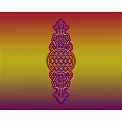 Flower Of Life Vintage Gold Ornaments Red Purple Olive Canvas 16  X 20   by EDDArt