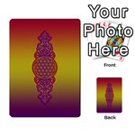 Flower Of Life Vintage Gold Ornaments Red Purple Olive Multi-purpose Cards (Rectangle)  Frontback