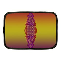 Flower Of Life Vintage Gold Ornaments Red Purple Olive Netbook Case (medium)  by EDDArt