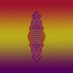 Flower Of Life Vintage Gold Ornaments Red Purple Olive Magic Photo Cubes by EDDArt