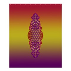 Flower Of Life Vintage Gold Ornaments Red Purple Olive Shower Curtain 60  X 72  (medium)  by EDDArt