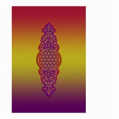 Flower Of Life Vintage Gold Ornaments Red Purple Olive Small Garden Flag (two Sides) by EDDArt