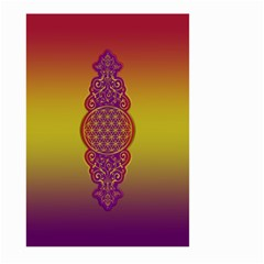 Flower Of Life Vintage Gold Ornaments Red Purple Olive Large Garden Flag (two Sides) by EDDArt