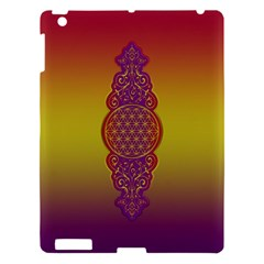 Flower Of Life Vintage Gold Ornaments Red Purple Olive Apple Ipad 3/4 Hardshell Case by EDDArt
