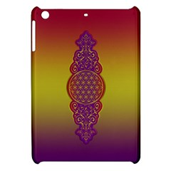 Flower Of Life Vintage Gold Ornaments Red Purple Olive Apple Ipad Mini Hardshell Case by EDDArt