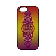 Flower Of Life Vintage Gold Ornaments Red Purple Olive Apple Iphone 5 Classic Hardshell Case (pc+silicone) by EDDArt