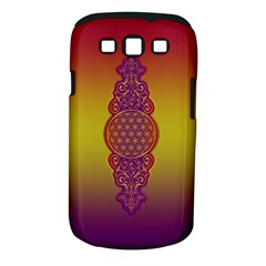 Flower Of Life Vintage Gold Ornaments Red Purple Olive Samsung Galaxy S Iii Classic Hardshell Case (pc+silicone) by EDDArt