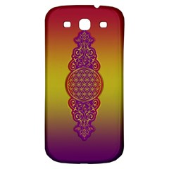 Flower Of Life Vintage Gold Ornaments Red Purple Olive Samsung Galaxy S3 S Iii Classic Hardshell Back Case by EDDArt