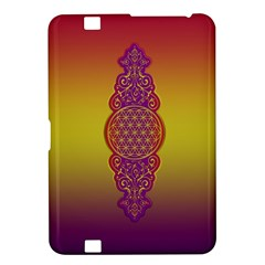 Flower Of Life Vintage Gold Ornaments Red Purple Olive Kindle Fire Hd 8 9  by EDDArt