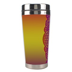 Flower Of Life Vintage Gold Ornaments Red Purple Olive Stainless Steel Travel Tumblers by EDDArt