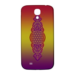 Flower Of Life Vintage Gold Ornaments Red Purple Olive Samsung Galaxy S4 I9500/i9505  Hardshell Back Case by EDDArt