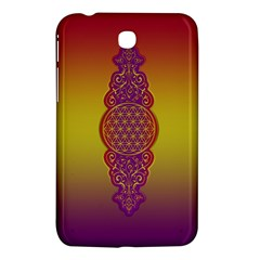 Flower Of Life Vintage Gold Ornaments Red Purple Olive Samsung Galaxy Tab 3 (7 ) P3200 Hardshell Case  by EDDArt