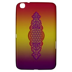 Flower Of Life Vintage Gold Ornaments Red Purple Olive Samsung Galaxy Tab 3 (8 ) T3100 Hardshell Case  by EDDArt