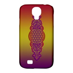 Flower Of Life Vintage Gold Ornaments Red Purple Olive Samsung Galaxy S4 Classic Hardshell Case (pc+silicone) by EDDArt