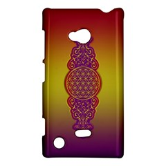 Flower Of Life Vintage Gold Ornaments Red Purple Olive Nokia Lumia 720 by EDDArt