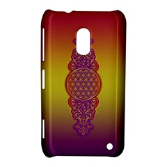 Flower Of Life Vintage Gold Ornaments Red Purple Olive Nokia Lumia 620 by EDDArt