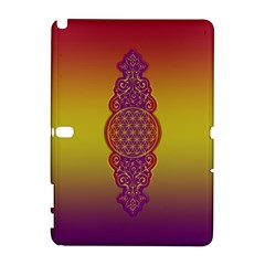 Flower Of Life Vintage Gold Ornaments Red Purple Olive Samsung Galaxy Note 10 1 (p600) Hardshell Case by EDDArt