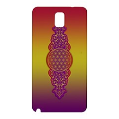 Flower Of Life Vintage Gold Ornaments Red Purple Olive Samsung Galaxy Note 3 N9005 Hardshell Back Case