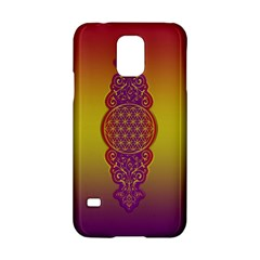 Flower Of Life Vintage Gold Ornaments Red Purple Olive Samsung Galaxy S5 Hardshell Case  by EDDArt