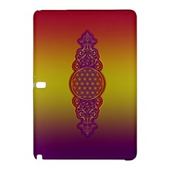 Flower Of Life Vintage Gold Ornaments Red Purple Olive Samsung Galaxy Tab Pro 12 2 Hardshell Case by EDDArt
