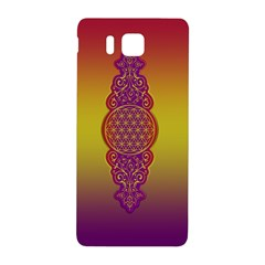 Flower Of Life Vintage Gold Ornaments Red Purple Olive Samsung Galaxy Alpha Hardshell Back Case by EDDArt