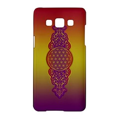 Flower Of Life Vintage Gold Ornaments Red Purple Olive Samsung Galaxy A5 Hardshell Case  by EDDArt