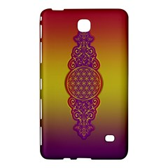 Flower Of Life Vintage Gold Ornaments Red Purple Olive Samsung Galaxy Tab 4 (8 ) Hardshell Case  by EDDArt