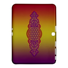 Flower Of Life Vintage Gold Ornaments Red Purple Olive Samsung Galaxy Tab 4 (10 1 ) Hardshell Case