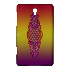 Flower Of Life Vintage Gold Ornaments Red Purple Olive Samsung Galaxy Tab S (8 4 ) Hardshell Case  by EDDArt