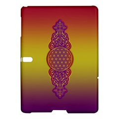 Flower Of Life Vintage Gold Ornaments Red Purple Olive Samsung Galaxy Tab S (10 5 ) Hardshell Case  by EDDArt