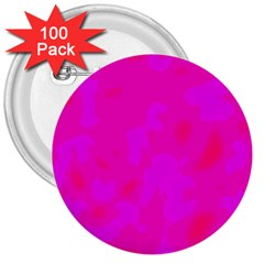 Simple Pink 3  Buttons (100 Pack)  by Valentinaart