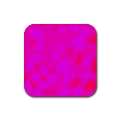 Simple Pink Rubber Coaster (square)  by Valentinaart